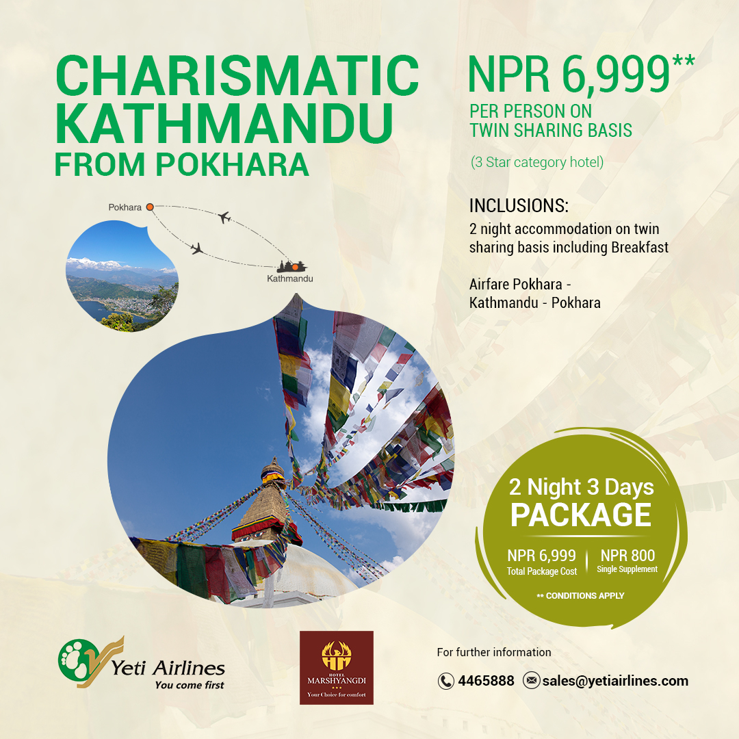 Charismatic Kathmandu from Pokhara - 3 Star category hotel