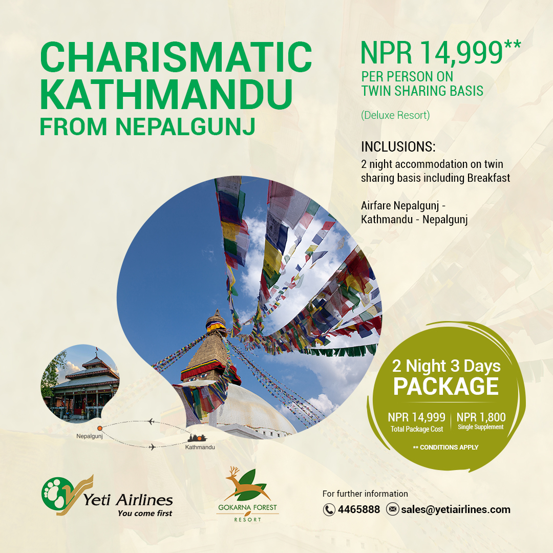 Charismatic Kathmandu from Nepalgunj - Deluxe Resort