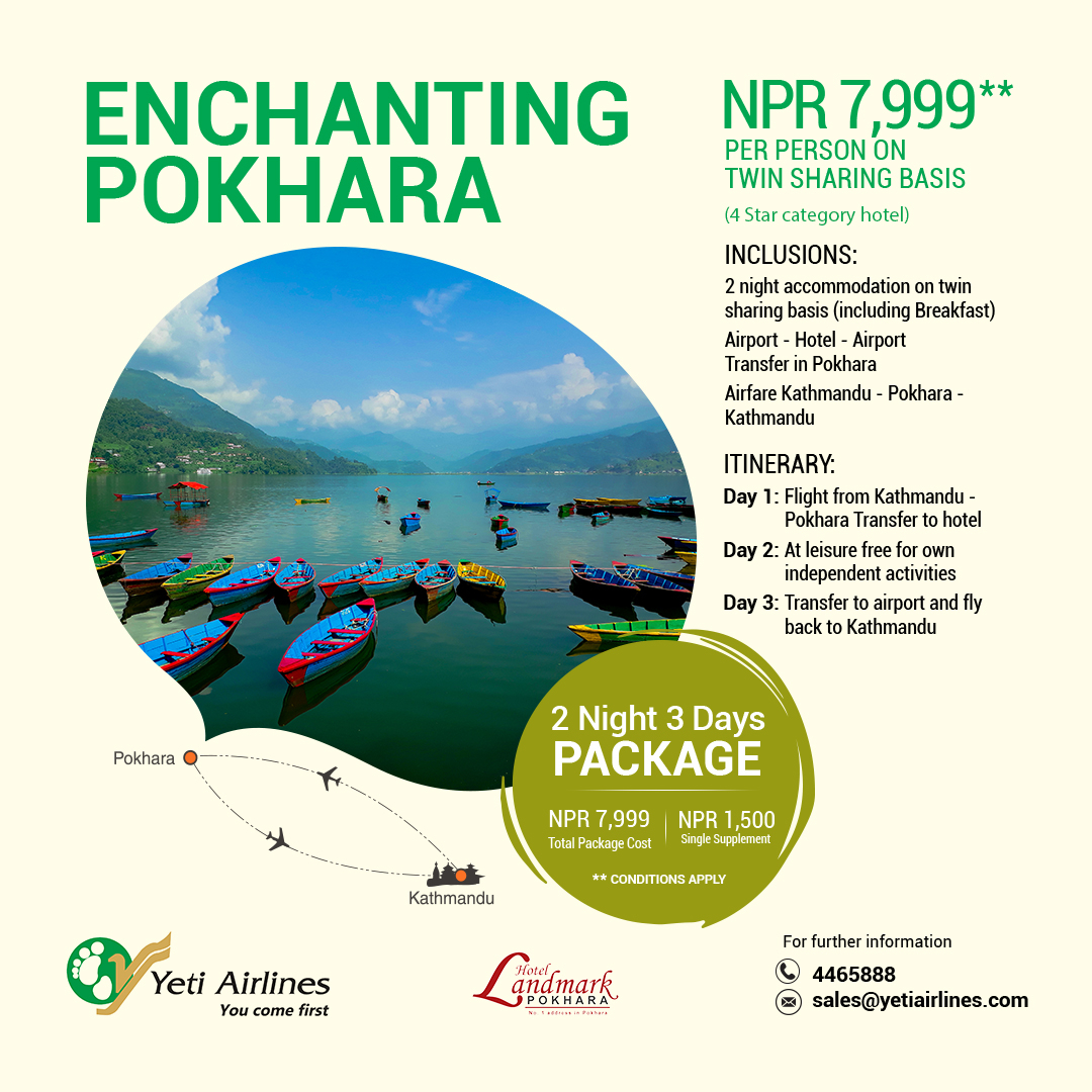 Enchanting Pokhara - Deluxe Resort / 4 Star Category Hotel